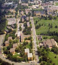 Overhead photo of the campus